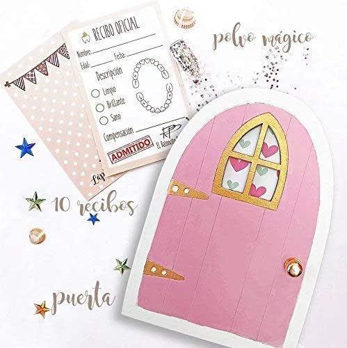 Puertas del ratoncito Pérez rosa, recibos oficiales y