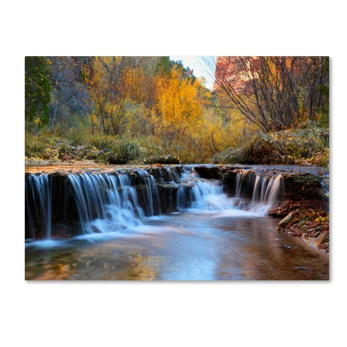Zion Autumn by Pierre Leclerc work, 22 by 32-Inch Canvas Wall Art