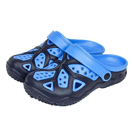 Sabot zoccoli slip on ciabatte in materiale EVA per bambini, taglia 33, colore: blu / azzurro