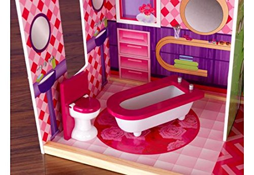 Kidkraft Wooden Modern Dream Glitter Dollhouse Fits Barbie Buy Online In Uae Toy Products
