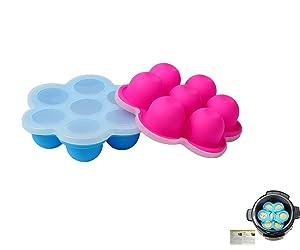 2-Pack Mini Egg Bites Molds for 3 qt Instant Pot Accessories by ULEE - Fits Instant Pot 3/5/6/8 Quart Pressure Cooker