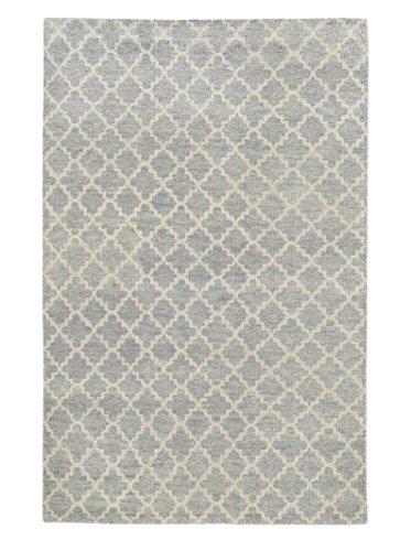 Tommy Bahama Maddox Blue/Beige Wool Lattice Area Rug (10' x 13') (Lattice Tommy Bahama)
