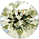 RINGJEWEL 2.52 ct 9.08 MM VVS1 Round Cut Loose Real Moissanite Use 4 Pendant/Ring Off White Light Brown Color