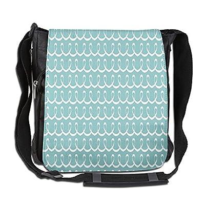 Lovebbag Festive Party Themed Ocean Sealife Inspired Hand Drawn Lines Art  Print Crossbody Messenger Bag well 866f0532f6