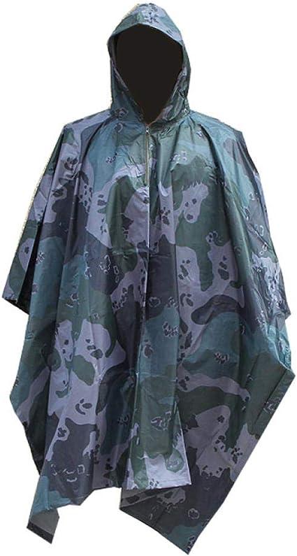 Amazon.com: Chubasquero impermeable de camuflaje para hombre ...