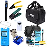 18 in 1 FTTH Fiber Optic Tool Kit With FC-6S Cleaver Optical Power Meter Visual Fault Locator Finder Cable Cutter Stripper 5km