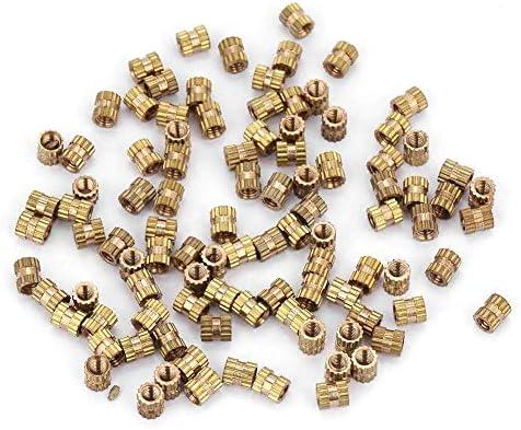 M2.5 x 8mm L x 3.5mm OD Female Thread Brass Embedment Assortment Kit 30 Pcs uxcell Knurled Insert Nuts