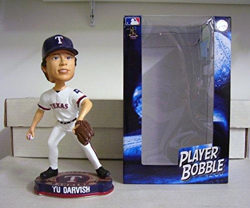 Yu Darvish Rangers Baseball Logo Base Bobblehead
