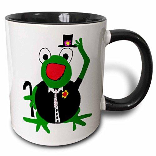 Young Artist Expo - Tuxedo Frog - 11oz Two-Tone Black Mug (mug_4861_4)