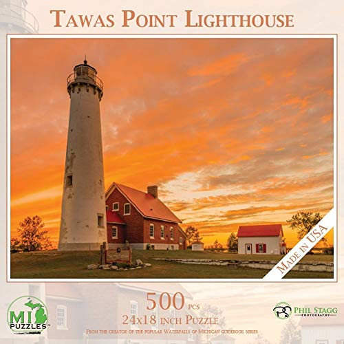 Tawas Point Lighthouse - 500 Piece MI Puzzles Jigsaw Puzzle ()