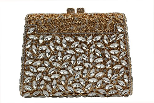 Yilongsheng 13 Colors Clutches White YL Crystal Women Gold Rhinestones 0752 r6xYr7
