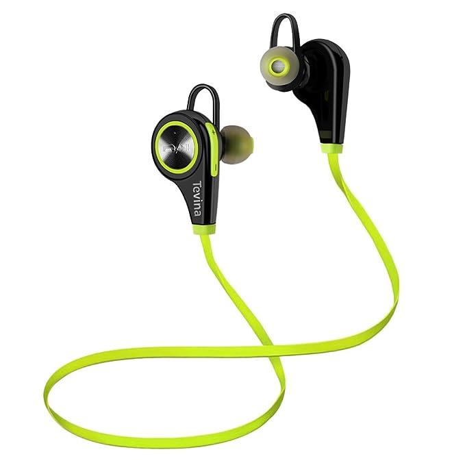 Auriculares Bluetooth Inalámbrico,Tevina Auriculares Deporte Headphones Deportivo con Micrófono Resistente al Sudor Antideslizante para