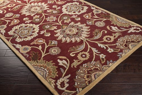 Surya Caesar CAE-1061 Classic Hand Tufted 100% Wool Maroon 2'6'' x 8' Traditional Runner by Surya