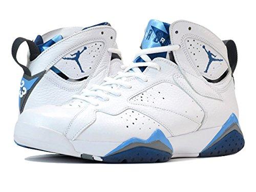 (ナイキ) NIKE AIR JORDAN 7 RETRO FRENCH BLUE ジョーダン7 レトロ WHITE/FRENCH BLUE/UNIVERSITY BLUE/GREY 304775-107 [並行輸入品] B01C4ZVJIA 28.5 cm