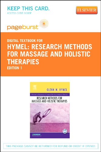 Research Methods for Massage and Holistic Therapies for sale  Delivered anywhere in USA