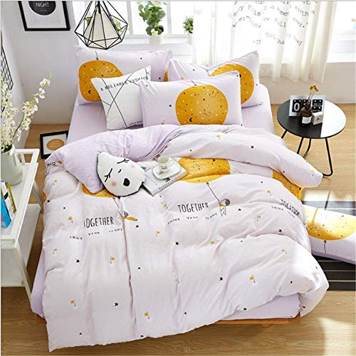 SSHHJ Cotton Bedding Set Queen King Size Girls Duvet Cover Linen Set Decorative Pillowcase G 220x240cm