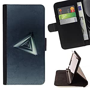 BETTY - FOR HTC Desire 820 - Triangle Abstract - Style PU Leather Case Wallet Flip Stand Flap Closure Cover