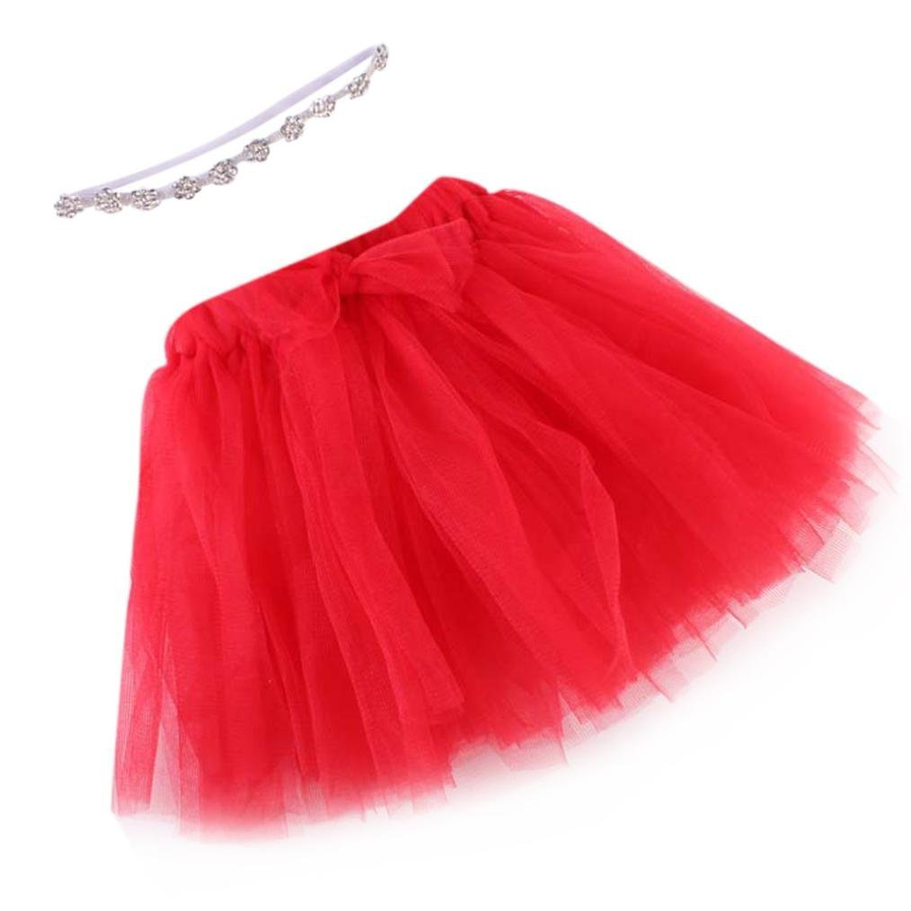 Clode® Infant Baby Multilayer Gauze Bubble Tutu Skirt+ Crystal Elastic Headband Baby Girl Party Dress Clode- Baby-Clothing-T16