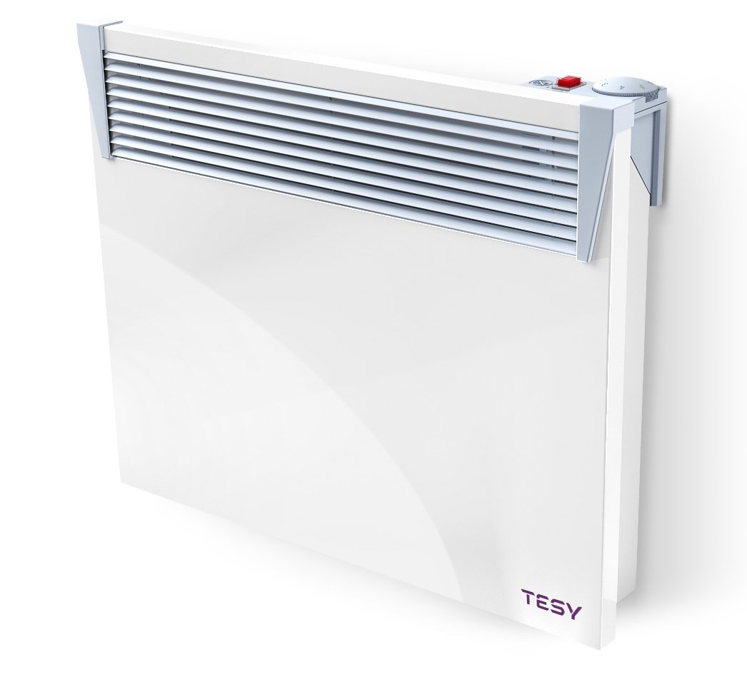 Electric Convector Panel Heater 1000w Wall Mounted - Modern Design and Slimline Tesy - Modern Stoves