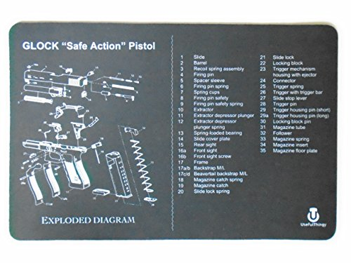 Glock Cleaning Mat - Printed Diagram