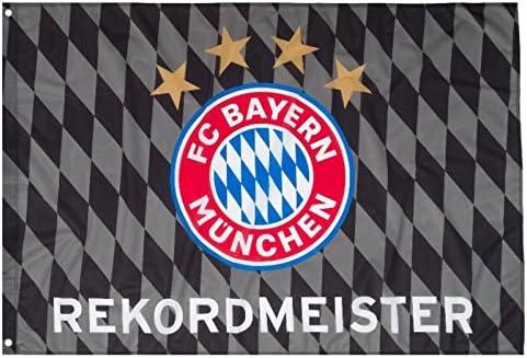 FC Bayern M/ünchen Fahne Rekordmeister 150 x 100 cm