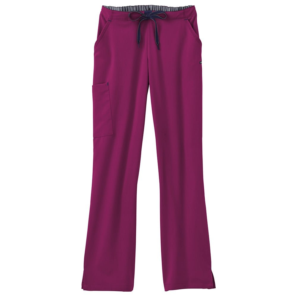Modern Fit Collection by Jockey Women's Convertible Drawstring Scrub Pant Small Plumberry Wine