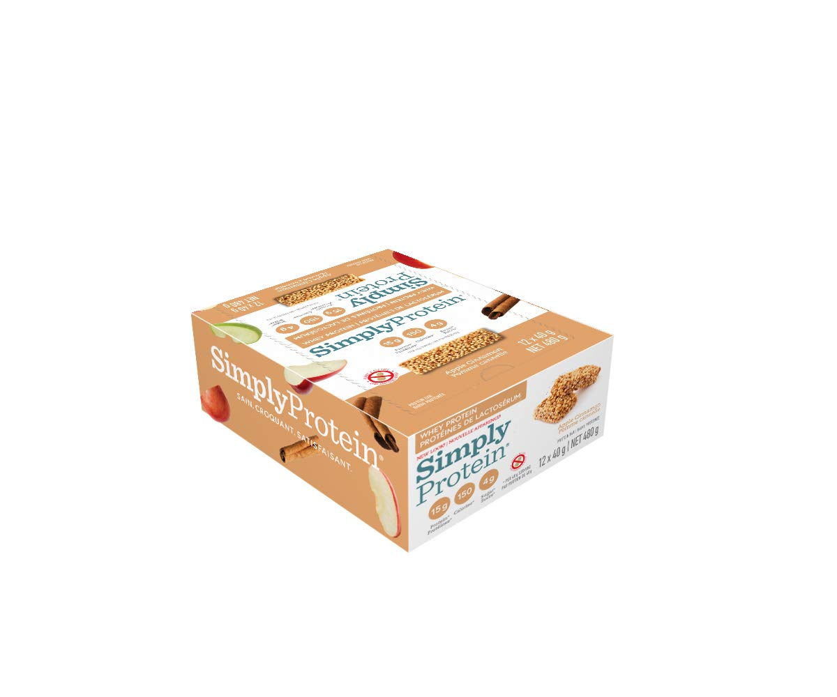 SimplyProtein Whey bar, Apple Cinnamon, Pack of 12, Gluten Free by SimplyProtein (Image #4)