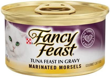 Fancy Feast Marinated Morsels Tuna Feast in Gravy 24 3oz