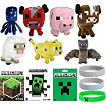 Minecraft Party Favor Lot - 40 Pieces - Plush, Stickers, Bracelets, Gift Bags