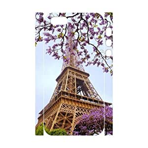Cool Painting Flower Paris Personalized 3D Cover Case for Iphone 5,5S,customized phone case case619131