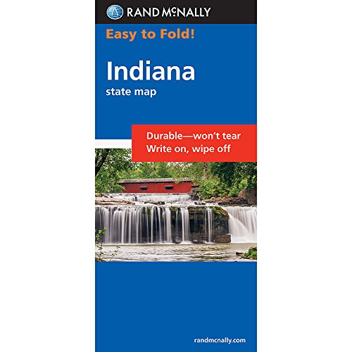 Rand McNally Indiana (Easy to Fold)