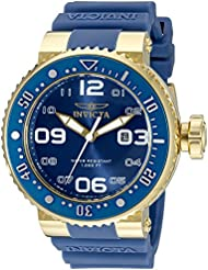 Invicta Mens 21522 Pro Diver Analog Display Japanese Quartz Blue Watch