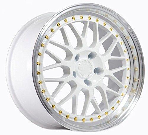 (Aodhan Wheels AH-02: 18x9.5, 5x100, 73.1, 30, (White w/Machined Lip))