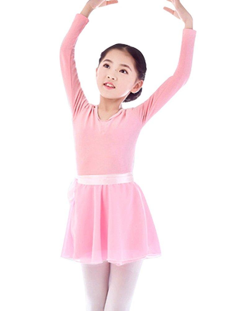 Girls' Basic Leotard Gymnastics Ballet Dance Wrap-Round Skirt