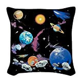 Woven Throw Pillow Solar System And Asteroids