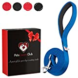 #6: PetsLovers 2-Layer Dog Leash - Extra Durable Webbing, Padded Handle - 6 Feet Long, 1 Inch Wide