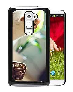 New Custom Designed Cover Case For LG G2 With Observant Cat Animal Mobile Wallpaper Phone Case