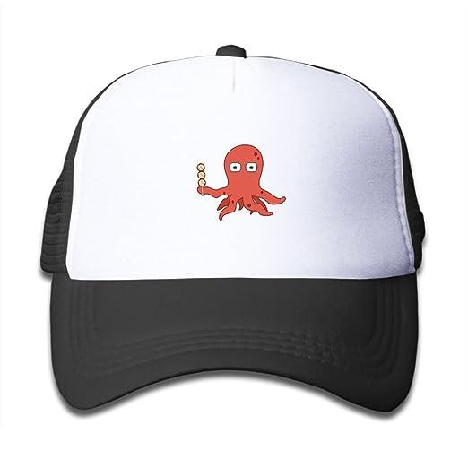 Amazon.com  Mesh Baseball Cap Mens Girl Youth Snapback Hats Octopus ... 9bed570a195