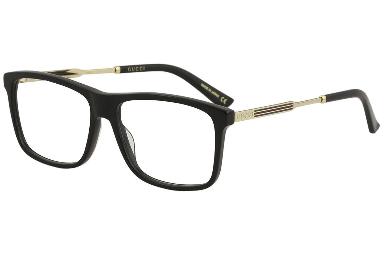 bdadc8c3da Amazon.com  Eyeglasses Gucci GG 0303 O- 002 AVANA   GOLD  Clothing