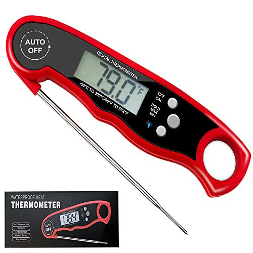 FoodOmeter Meat-Thermometer Instant Read Digital Thermometer for Grilling, BBQ, Food, Candy, Cooking and Kitchen (1 Pack)