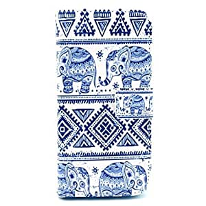 QHY Elephant And Folk Style Pattern PU Leather Full Body Case for iPhone 6 Plus