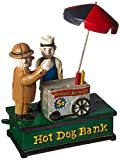 Design Toscano Hot Dog Collectors Die Cast Iron Mechanical Coin Bank