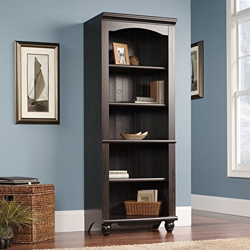 "Sauder 401633 Harbor View Library, L: 27.21"" x W: 17.48"" x H: 72.24"", Antiqued Paint finish"