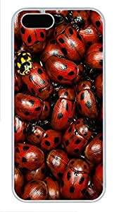 taoyix diy iPhone 5 5S Case Nature Lady Bugs PC Custom iPhone 5 5S Case Cover White