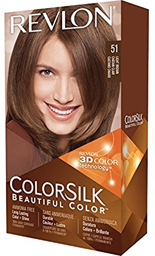 Revlon ColorSilk Beautiful Color 51 Light Brown, 1.0 CT