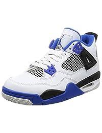 Nike AIR Jordan 4 Retro BG (GS) 'Motor Sport' - 408452-117