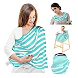 infant car seat cover green - Viciviya Nursing Breastfeeding Cover Scarf, Baby Car Seat Canopy, Shopping Cart, Stroller, High Chair Cover for Girls and Boys, Multi-Use Infant Stretchy Shawl, Happy Mother's Gift (Mint Green)