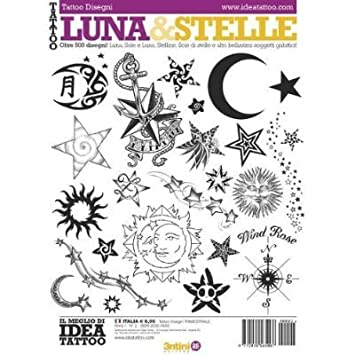 Amazon.com : Tattoo Book of Various Style Moons and Stars ...
