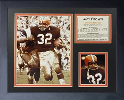 "Legends Never Die ""Jim Brown Running"" Framed Photo Collage, 11 x 14-Inch"