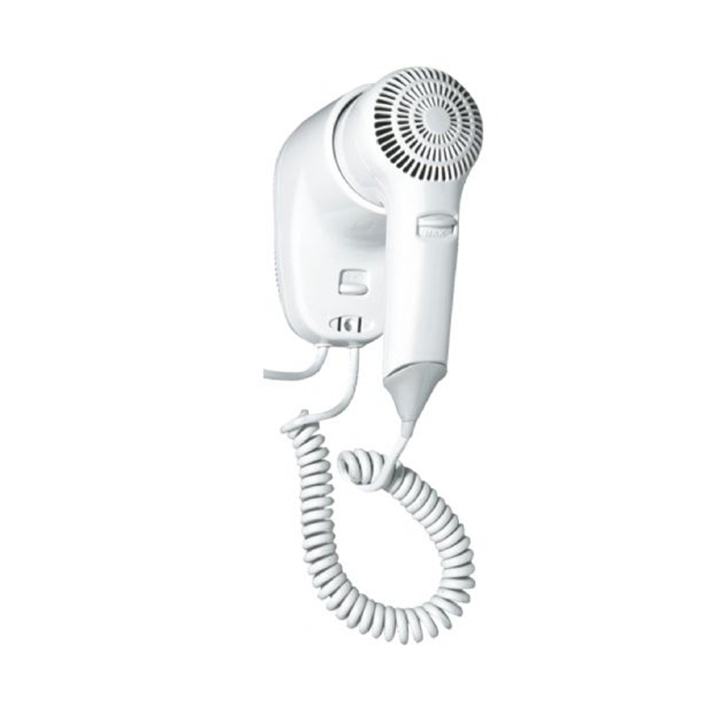 Asciugacapelli elettrico phon da parete a muro pistola asciugatrice bianco nofer 02055. W